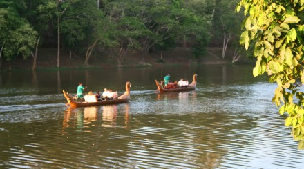 Gondole à Angkor