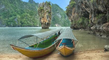 Baie de Phang Nga en bateau rapide et canoë