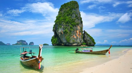 Canoë sur la baie de Phang Nga