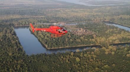 Survol d'Angkor en hélicoptère