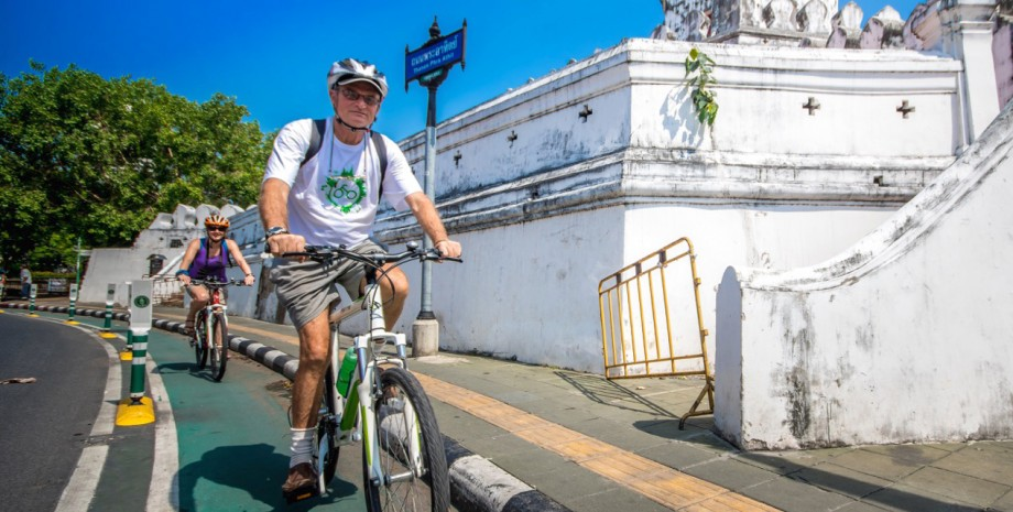En vélo à China Town