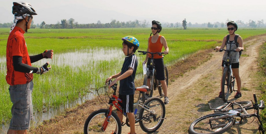 La campagne de Bangkok en vélo
