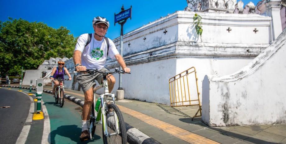 Vélo aux alentours de Bangkok