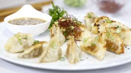 Diner typique de dumpling