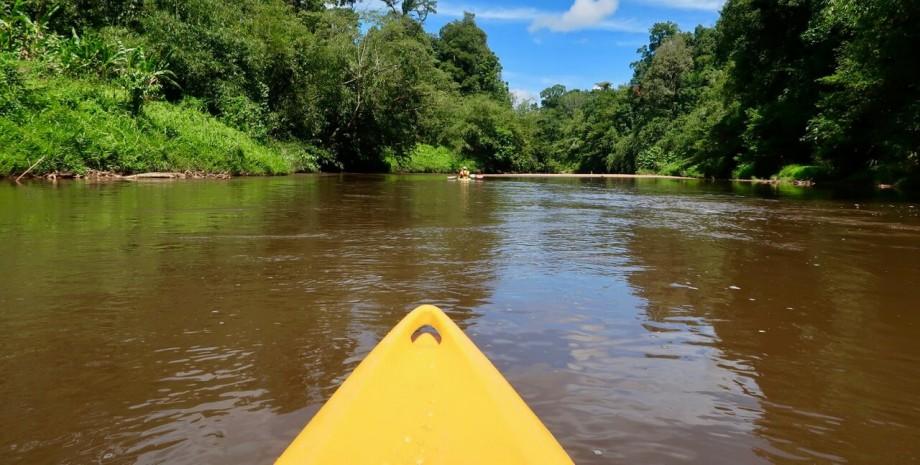 En kayak à Bornéo