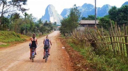 Vang Vieng en vélo